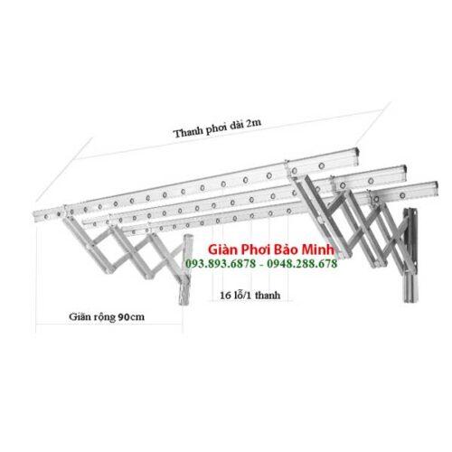 Giàn Phơi Thông Minh Gắn Tường GT-01 Giá Rẻ