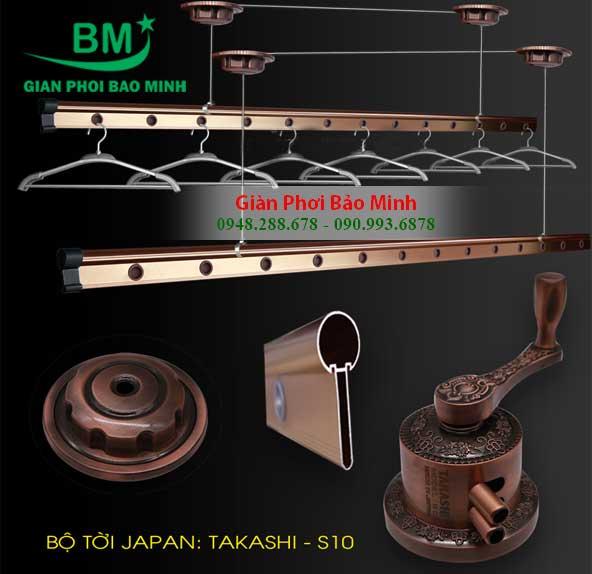Giàn Phơi Nhập Khẩu Takashi S10 Nhật Bản Gắn Trần