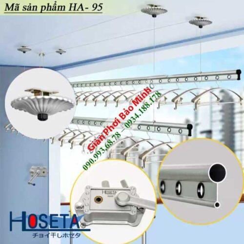 Giàn Phơi Thông Minh Gắn Trần Hoseta HA-95